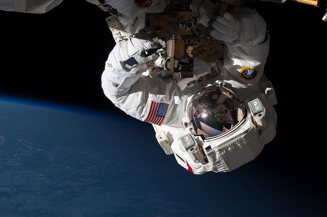 Repairing the Station in Orbit by NASA