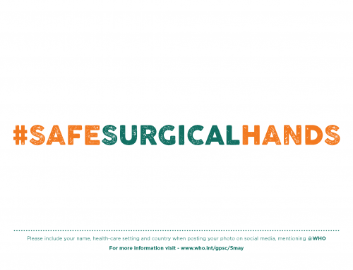 SALVE VIDAS, límpiese las manos #safesurgicalhands