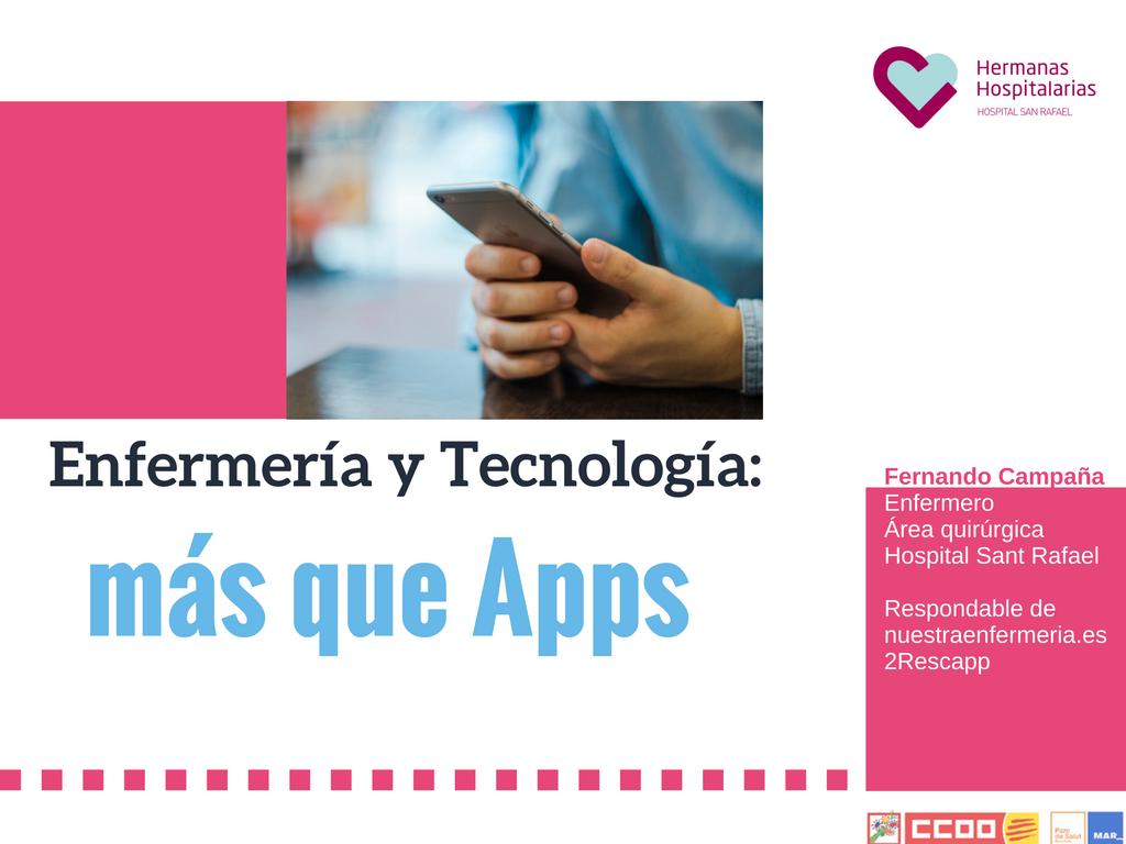 Enfermería y Tecnología, algo más que Apps
