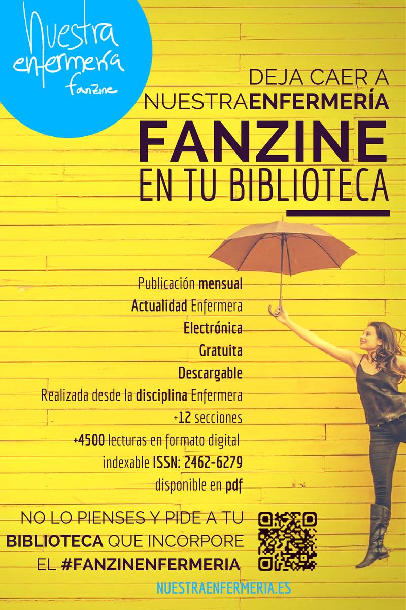 Deja caer el #FanzinEnfermería en tu biblioteca!