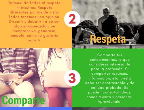Infografía Muéstrate, Respeta, Comparte, se Correcto y Actúa #enferetica17