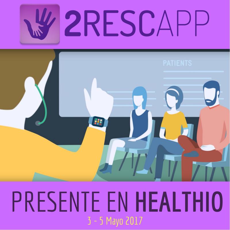 2Rescapp en el itinerario de Emergencias Médicas de HEALTHIO