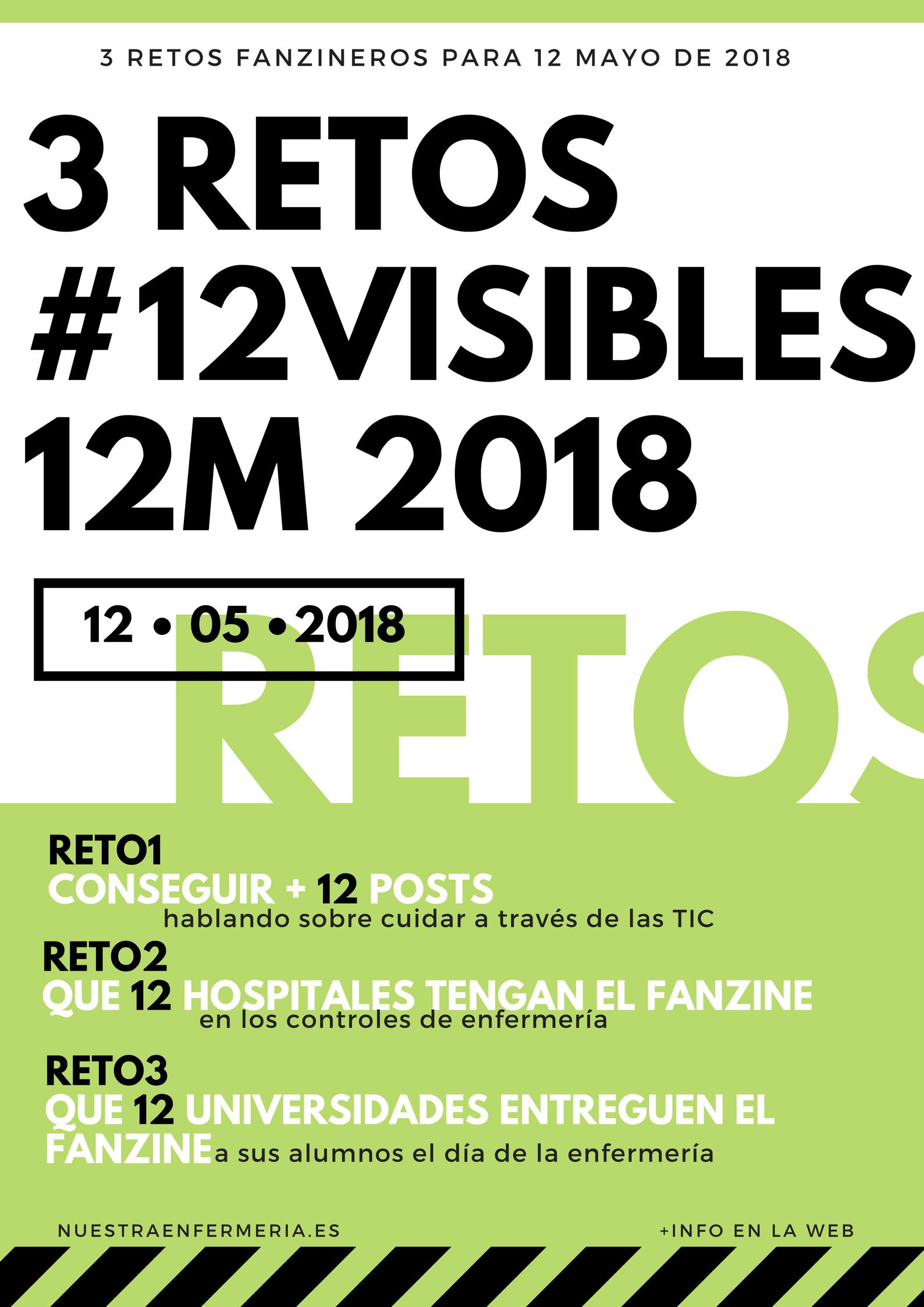 3 Retos Fanzineros #12visibles12M 2018