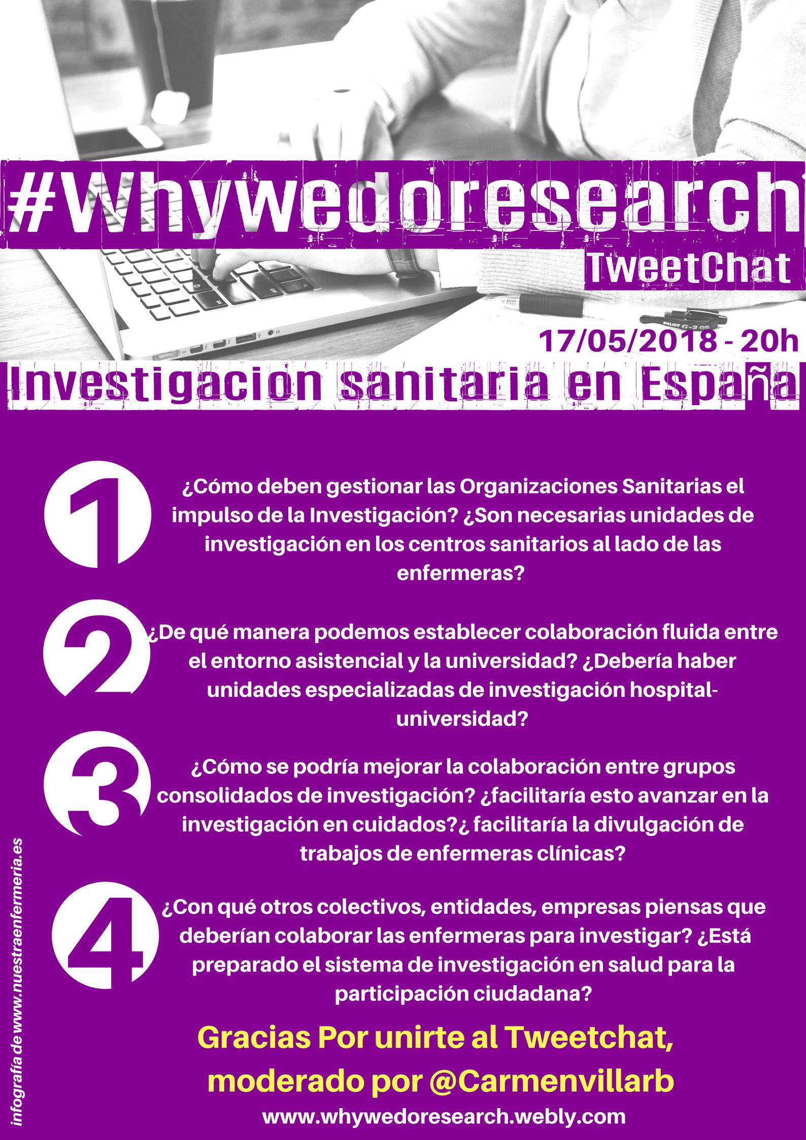 #whywedoresearch de 2018 moderado por @carmenvillarb