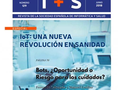Bots ¿Oportunidad o riesgo para los cuidados? Artículo revista I+S Junio 2018