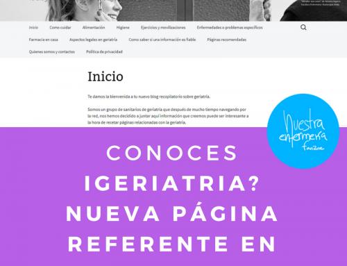 Conoces Igeriatria.wordpress.com? tu nueva página de geriatría!