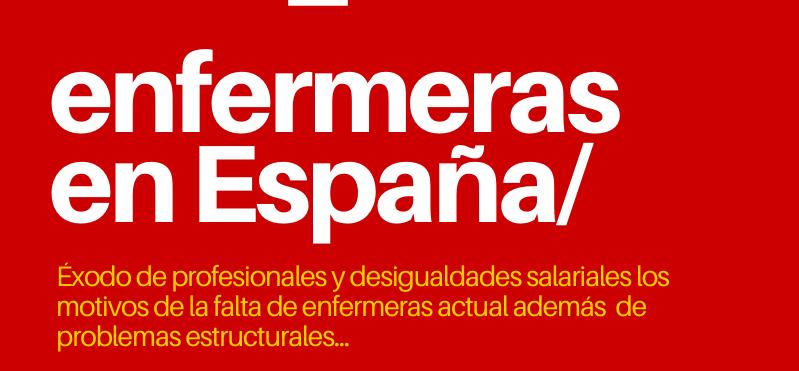 Infografía Enfermeras en España