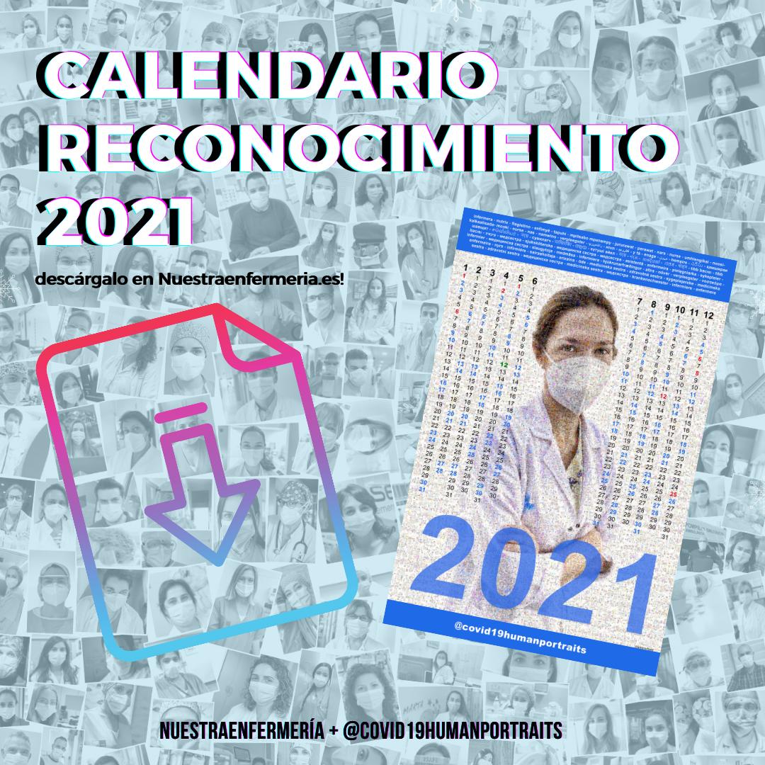 Calendario Reconocimiento 2021 @covid19humanportraits